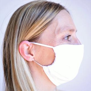 Mund- und Nasenmaske weiss, 2-lagig